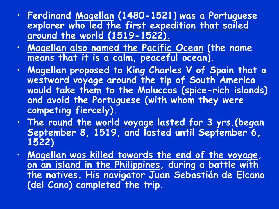 Juan Sebastián Elcano Ferdinand Magellan S Replacement: Ppt Video Online Download
