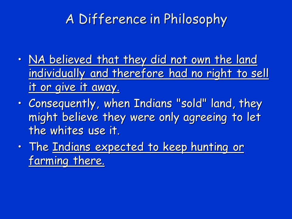 A Difference in Philosophy