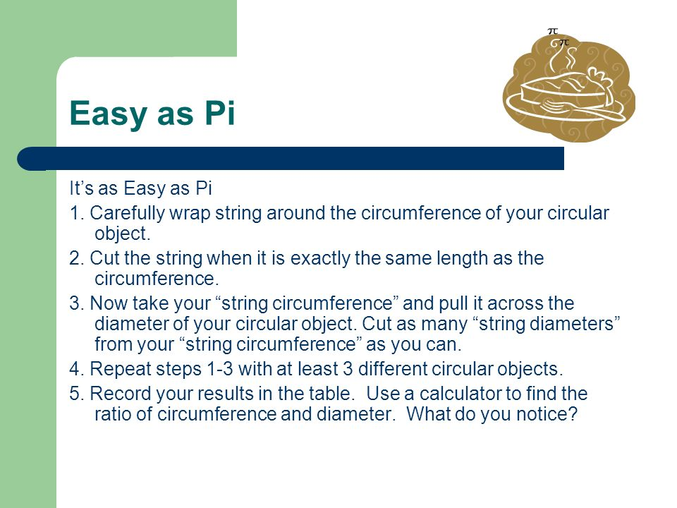 Easy as Pi It's as Easy as Pi