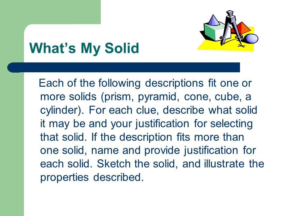 What's My Solid