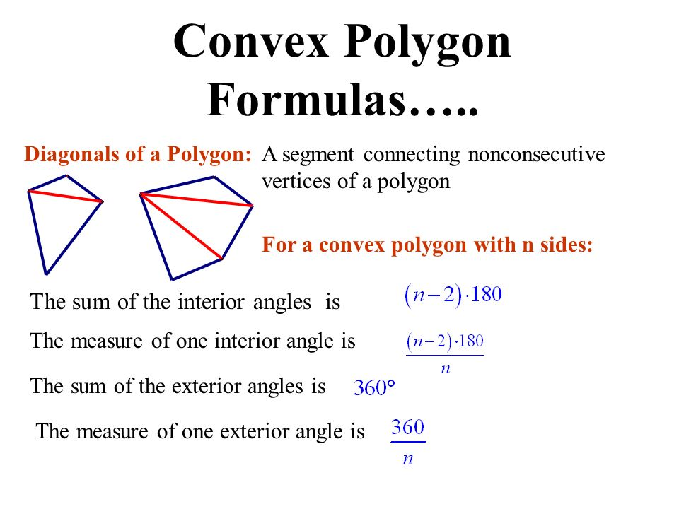 Unit 2 polygons in the plane ppt video online download for Exterior angles of a polygon formula