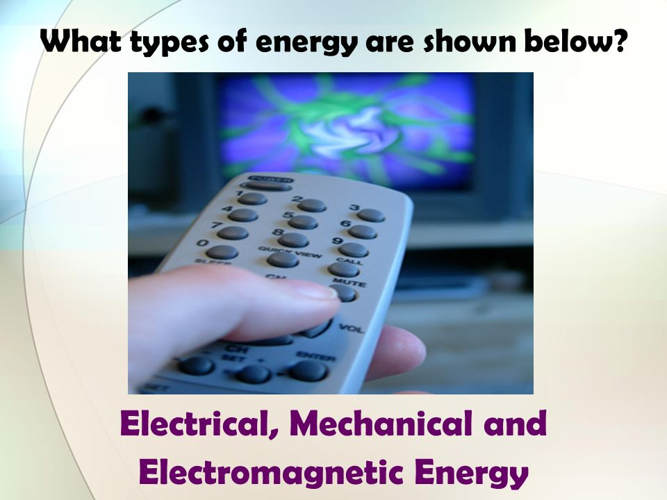 What types of energy are shown below