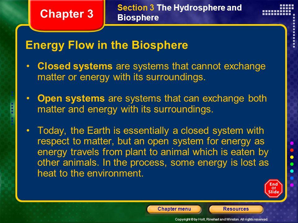 Energy Flow in the Biosphere