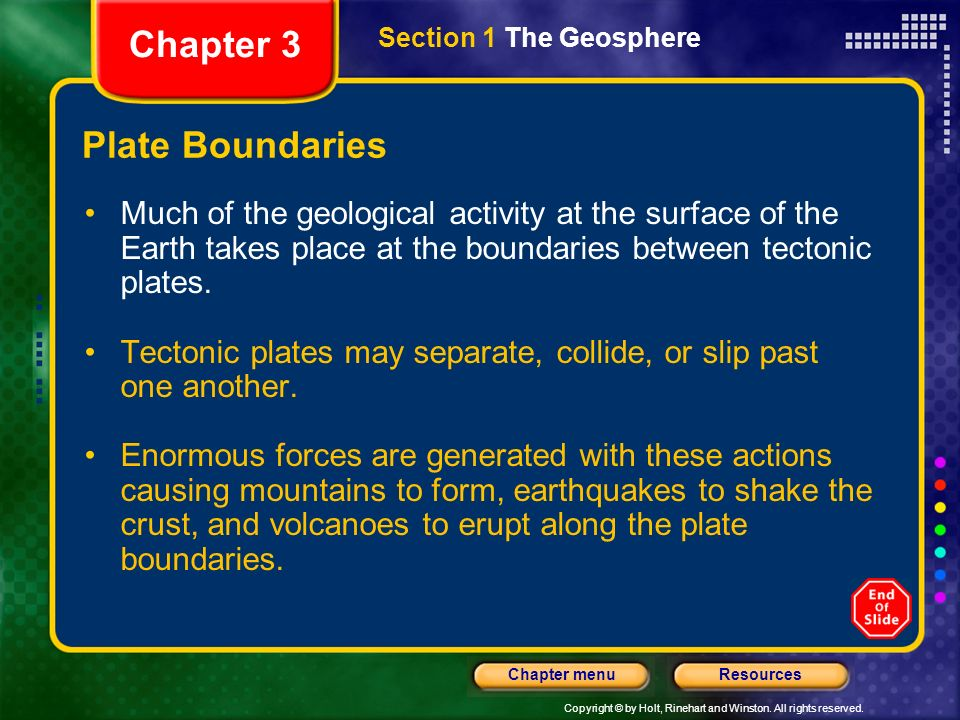 Chapter 3 Plate Boundaries