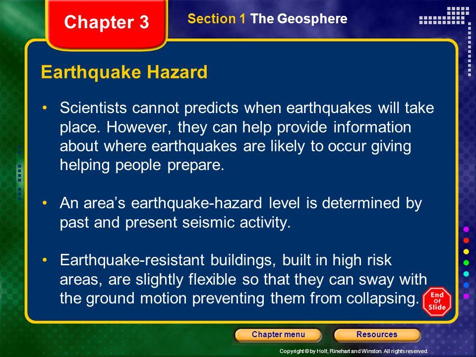 Chapter 3 Earthquake Hazard