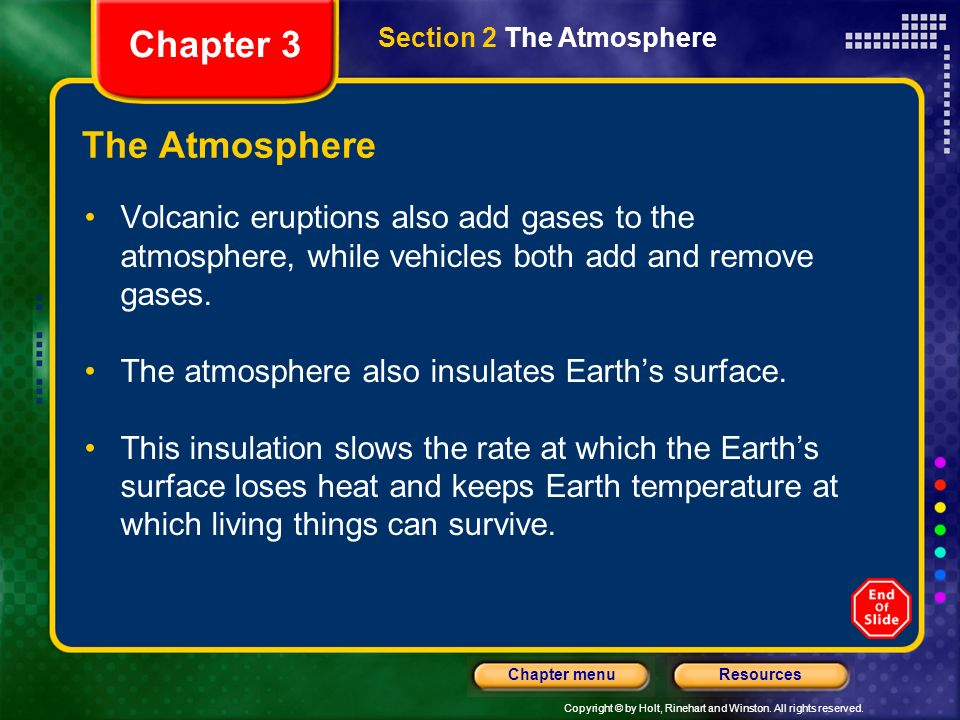 Chapter 3 The Atmosphere