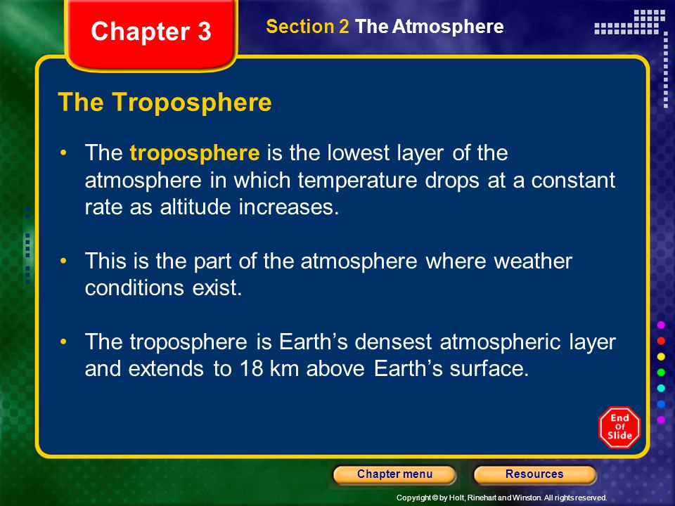 Chapter 3 The Troposphere