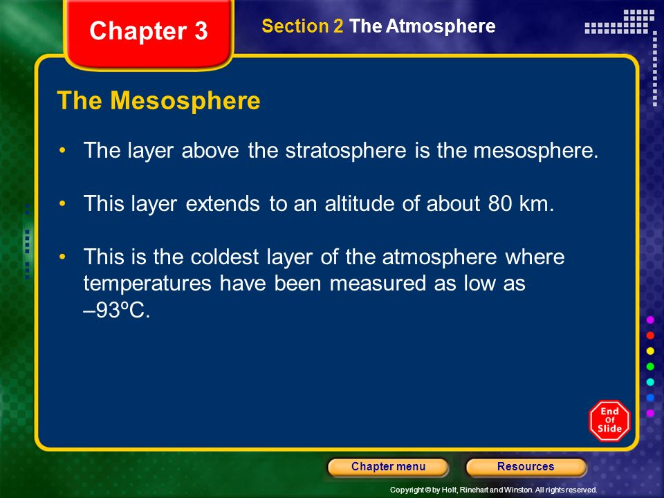 Chapter 3 The Mesosphere