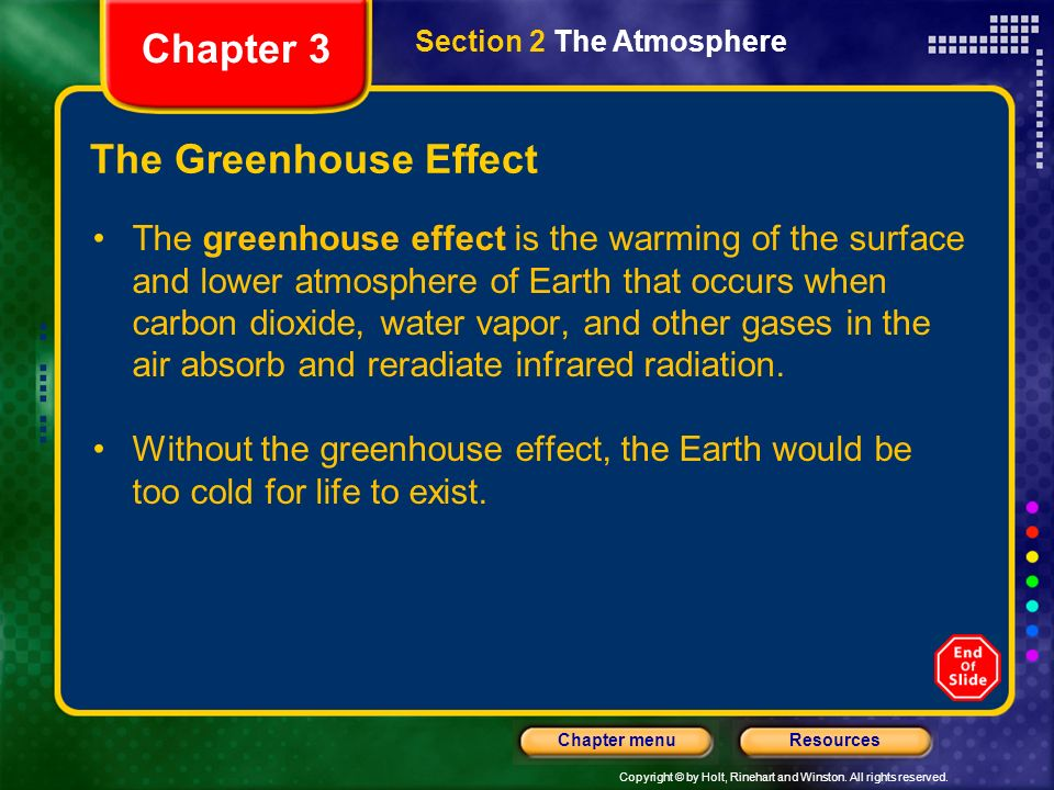 Chapter 3 The Greenhouse Effect