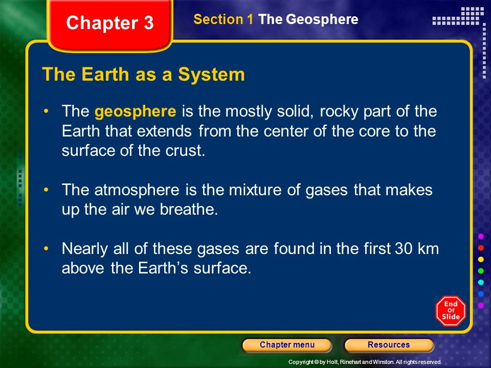 Chapter 3 The Earth as a System