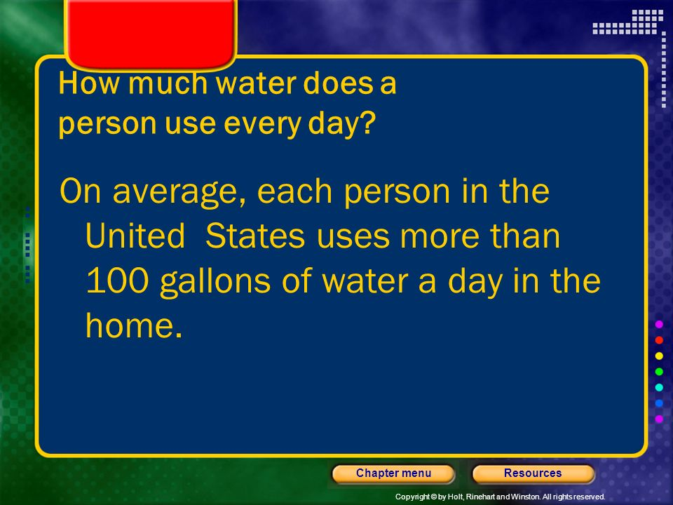 How much water does a person use every day