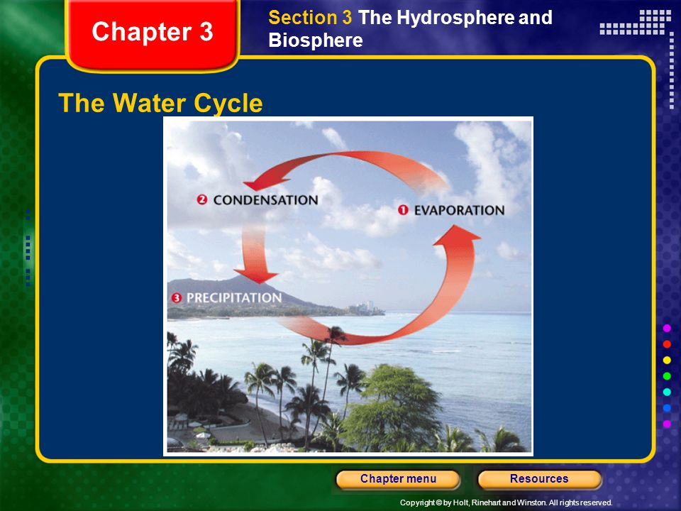 Section 3 The Hydrosphere and Biosphere