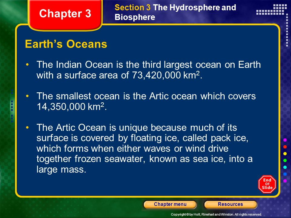 Chapter 3 Earth's Oceans