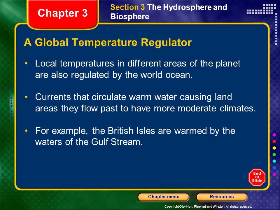 A Global Temperature Regulator