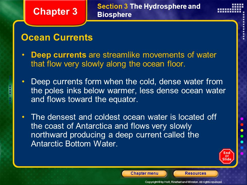 Chapter 3 Ocean Currents