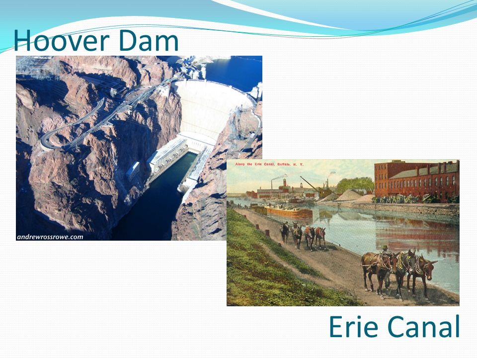 Hoover Dam Erie Canal