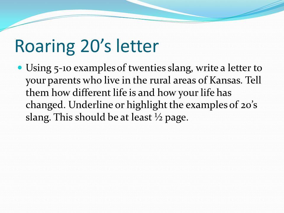 Roaring 20's letter