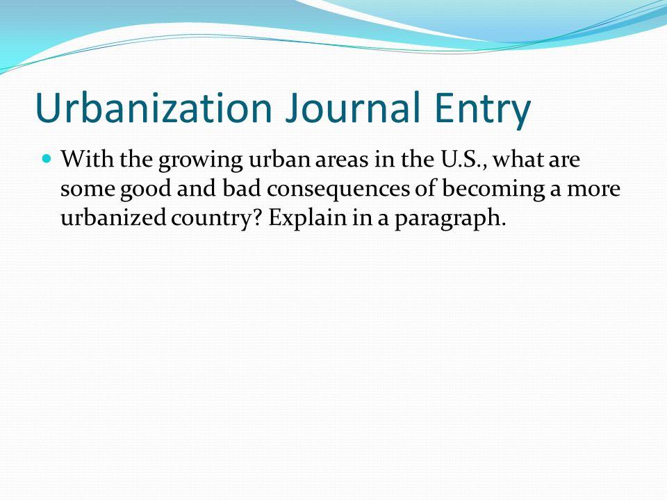 Urbanization Journal Entry