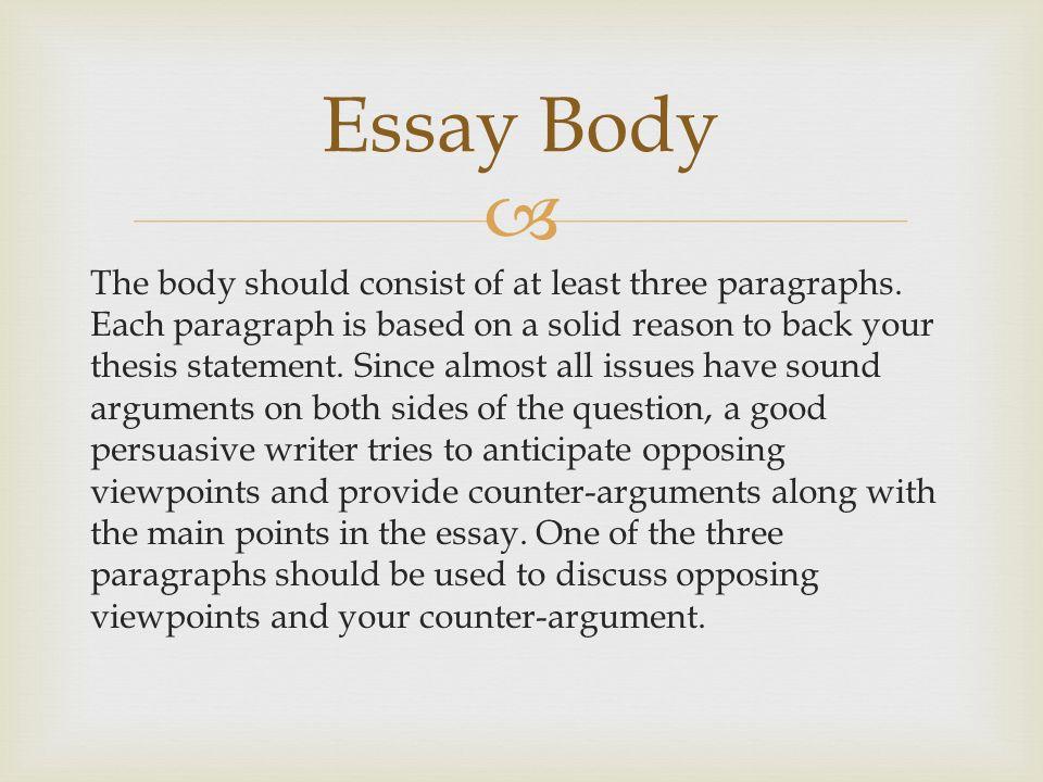 Essay Body