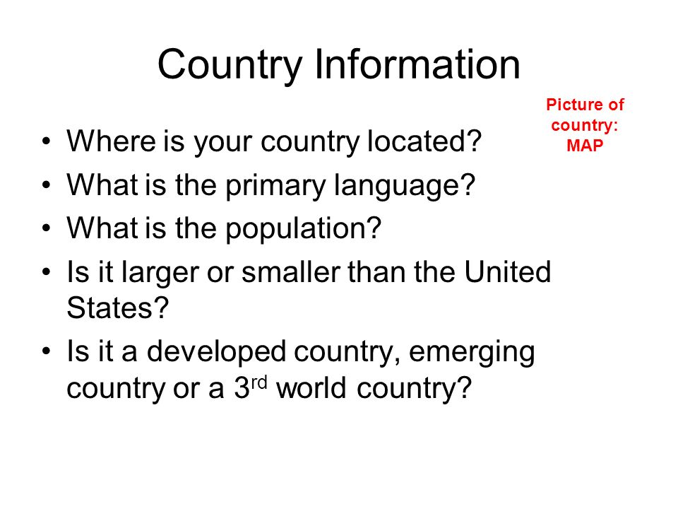 Picture of country: MAP