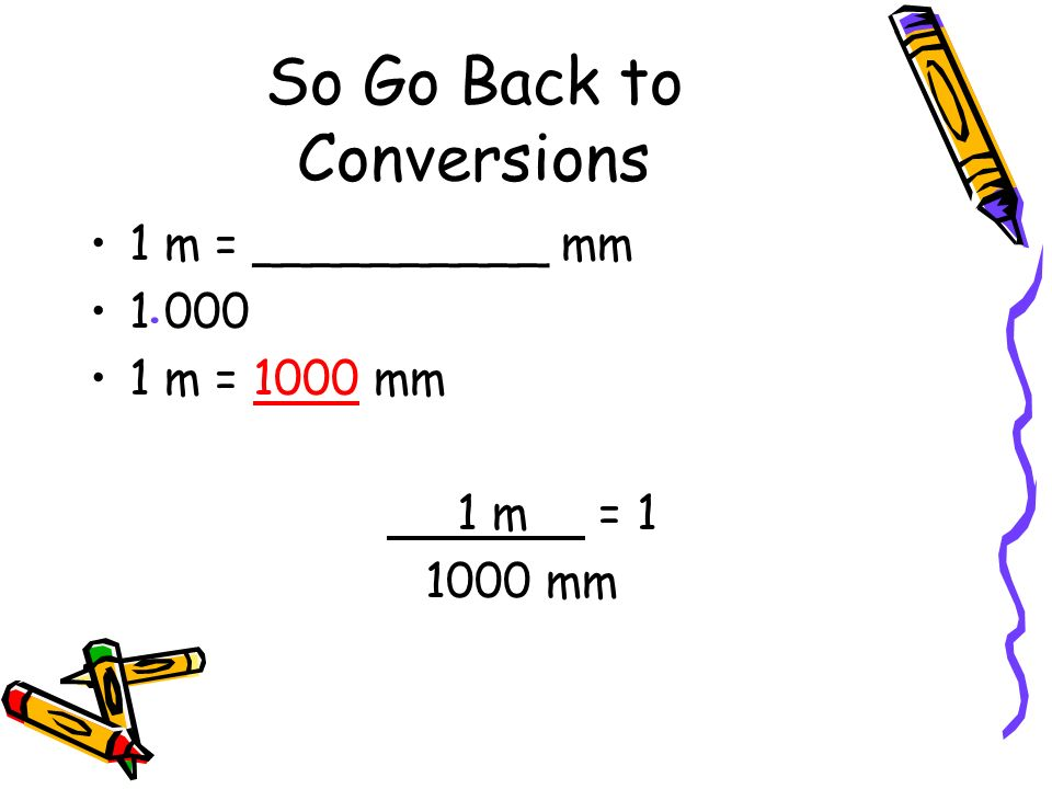 So Go Back to Conversions