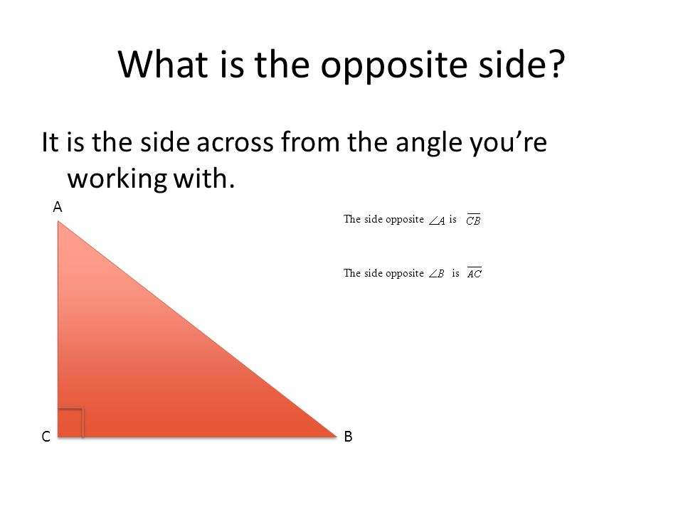 What is the opposite side