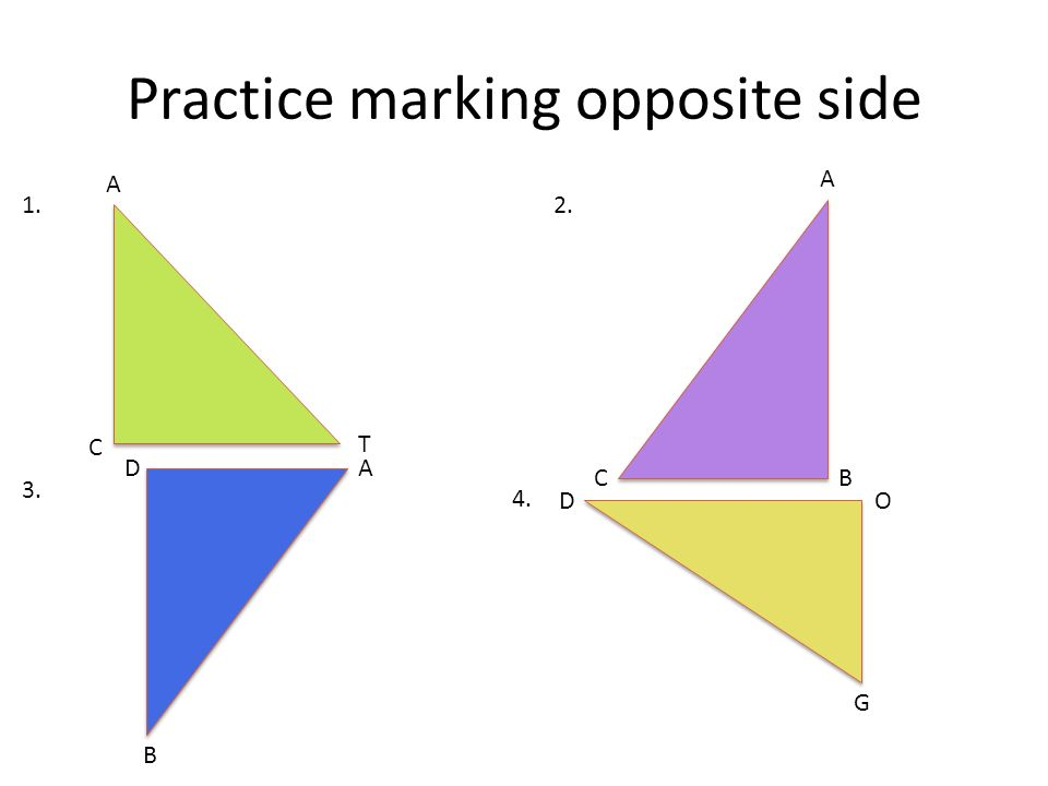 Practice marking opposite side