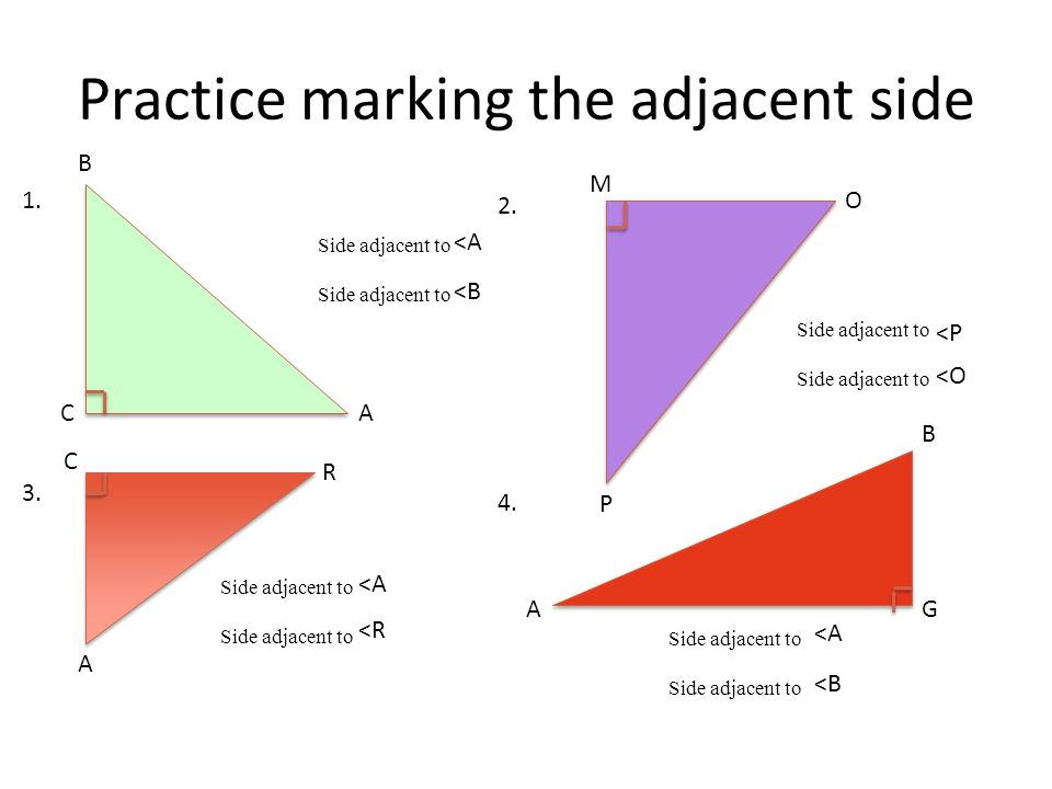 Practice marking the adjacent side