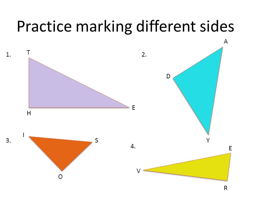 Practice marking different sides