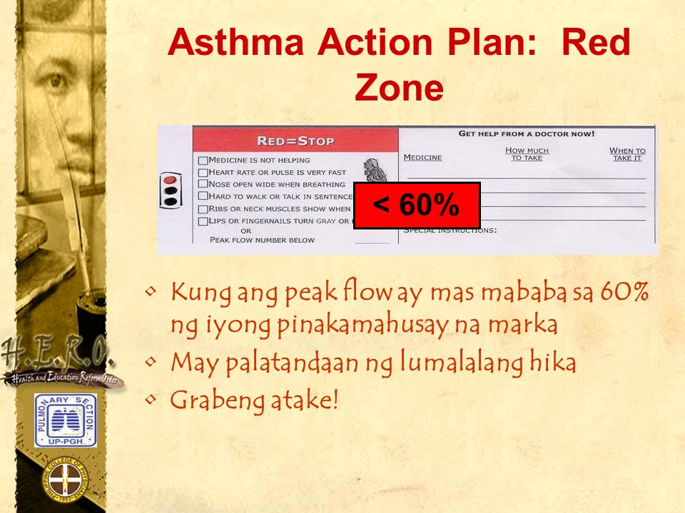 Asthma Action Plan: Red Zone