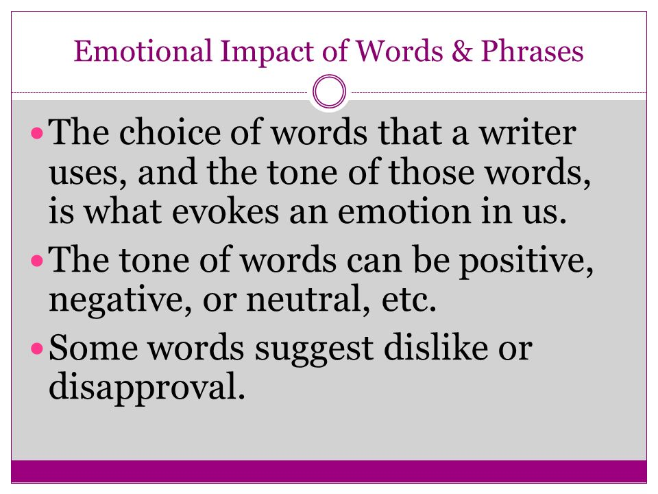 Emotional Impact of Words & Phrases