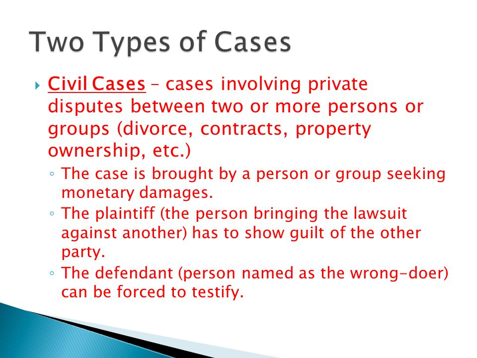 Two Types of Cases