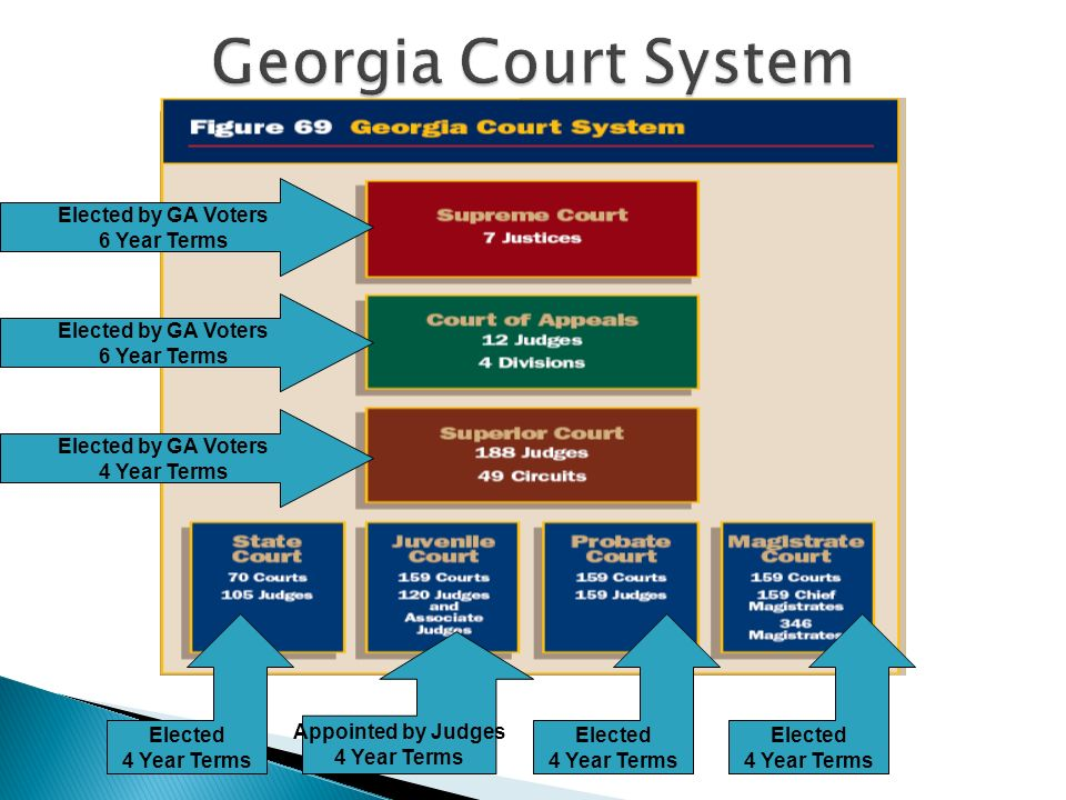 Georgia Court System Elected by GA Voters 6 Year Terms