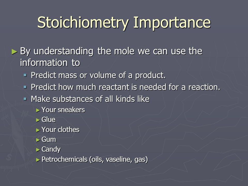 Stoichiometry Importance
