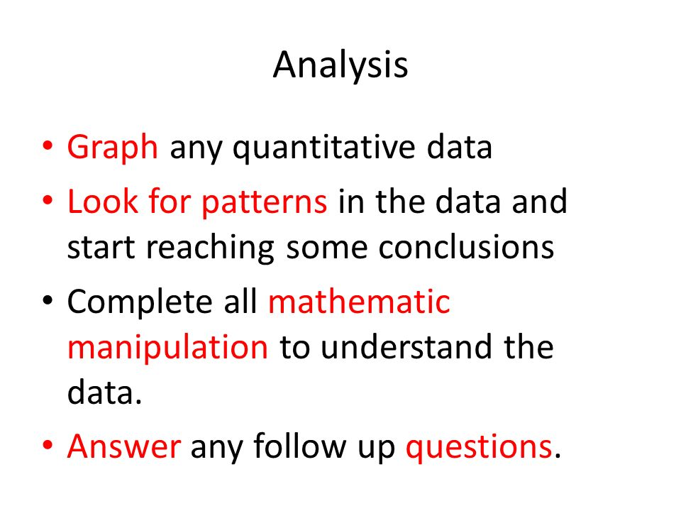 Analysis Graph any quantitative data