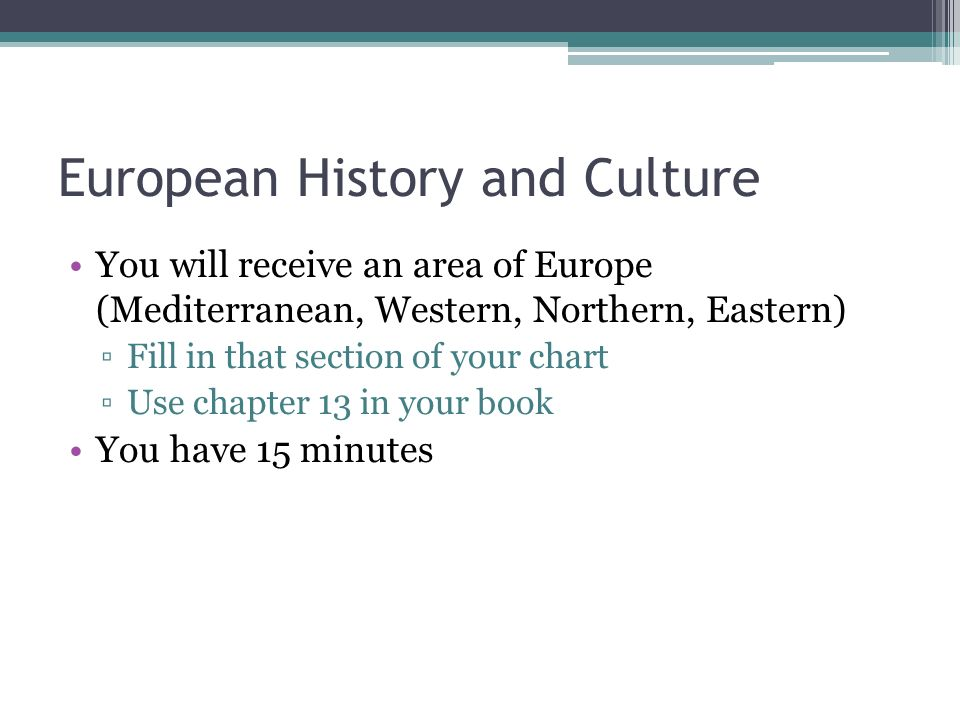 European History and Culture