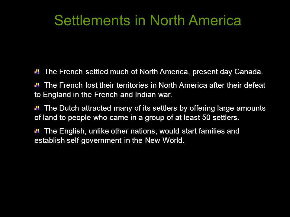 Settlements in North America