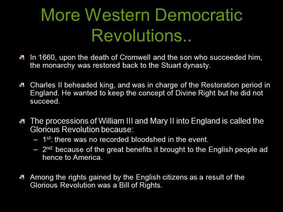 More Western Democratic Revolutions..
