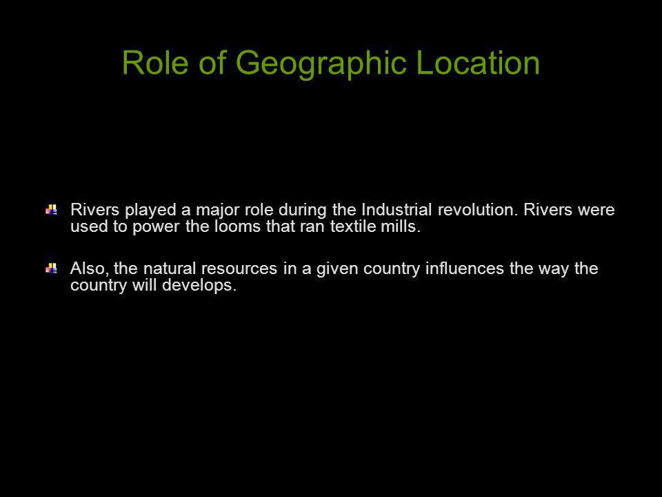 Role of Geographic Location