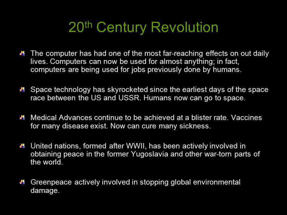 20th Century Revolution