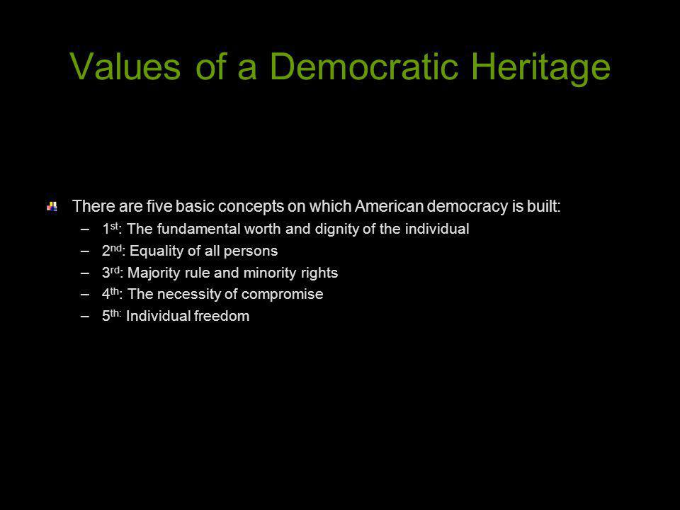 Values of a Democratic Heritage