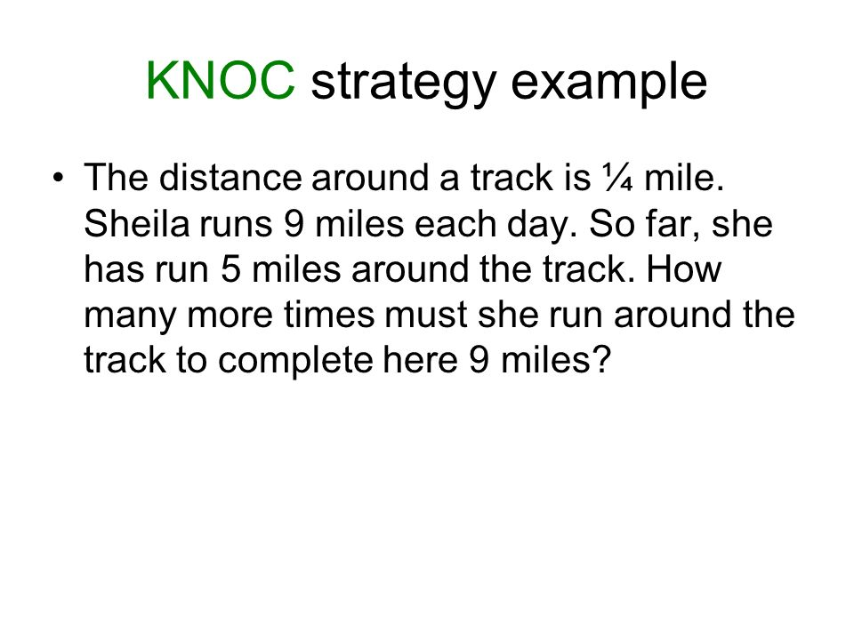 KNOC strategy example