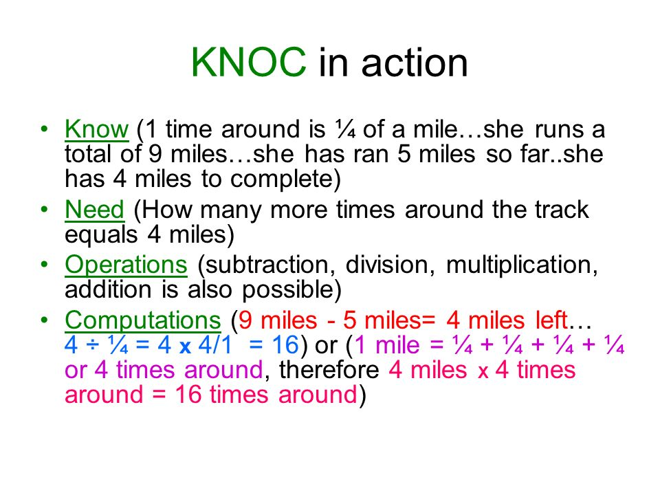 KNOC in action Know (1 time around is ¼ of a mile…she runs a total of 9 miles…she has ran 5 miles so far..she has 4 miles to complete)