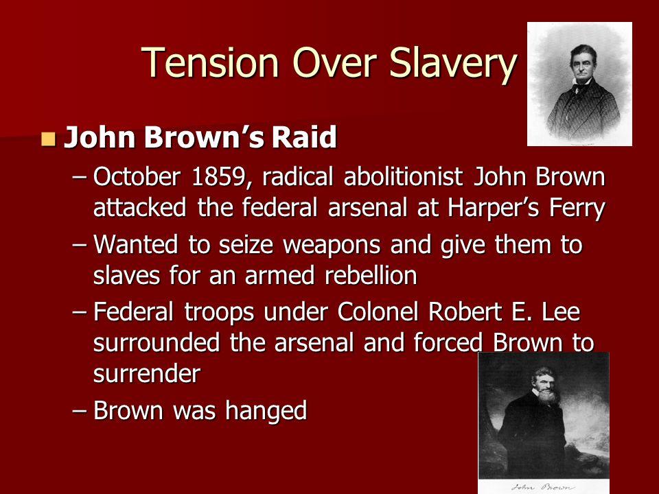 Tension Over Slavery John Brown's Raid