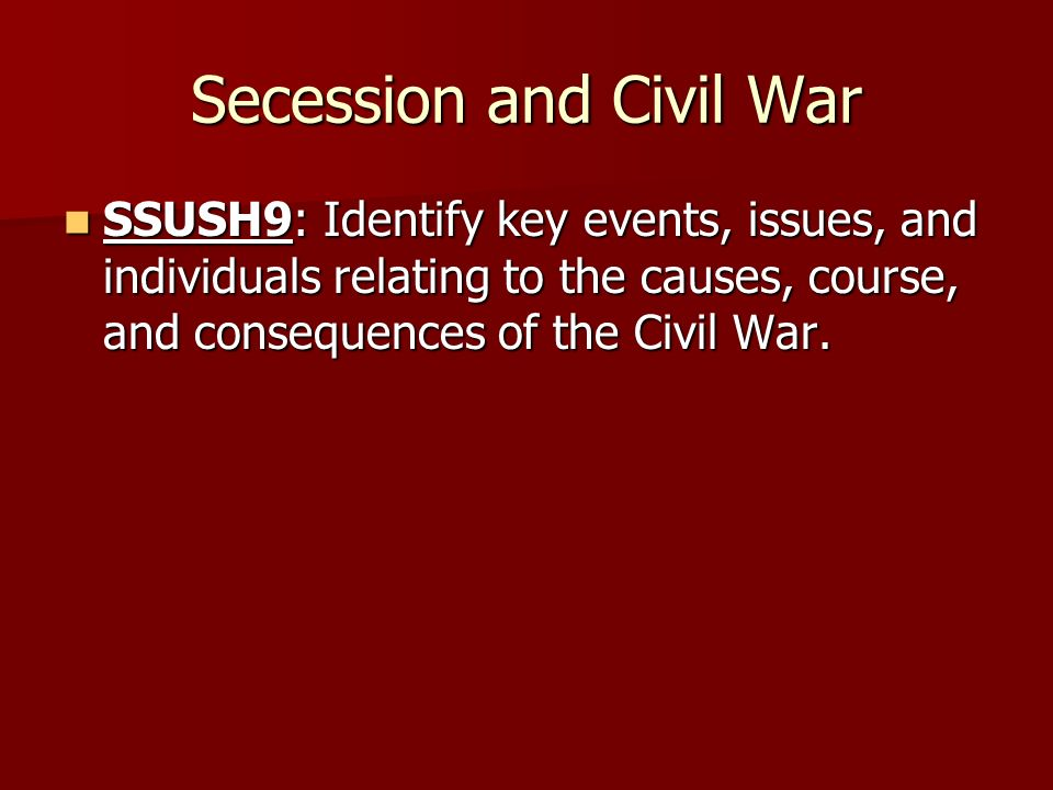 secession of the south causes for It has become fashionable in recent years for civil war revisionists to claim that southern secession was unrelated to slavery the true cause of secession, the advocates of this position.