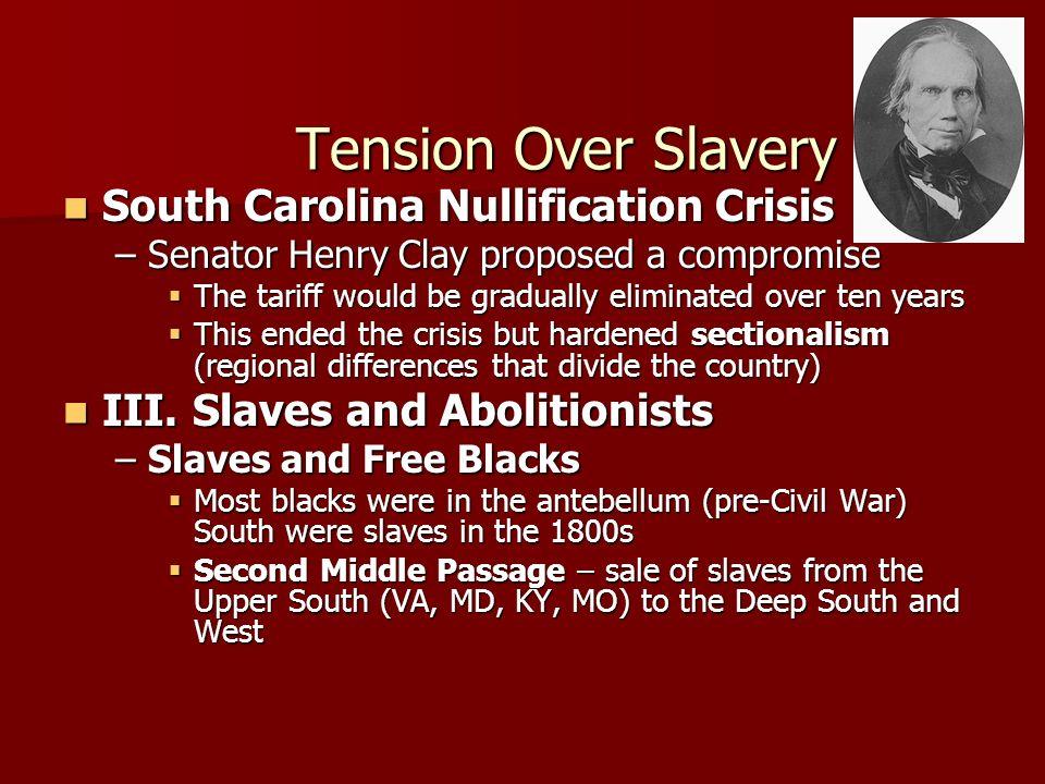 Tension Over Slavery South Carolina Nullification Crisis
