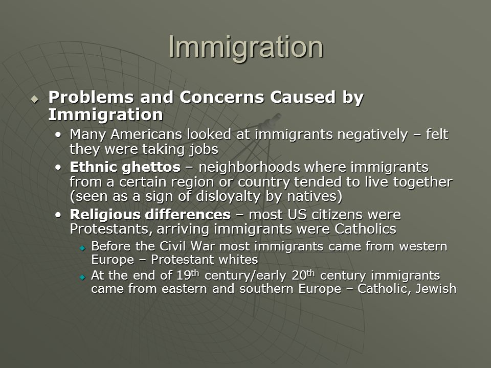 Immigration Problems and Concerns Caused by Immigration