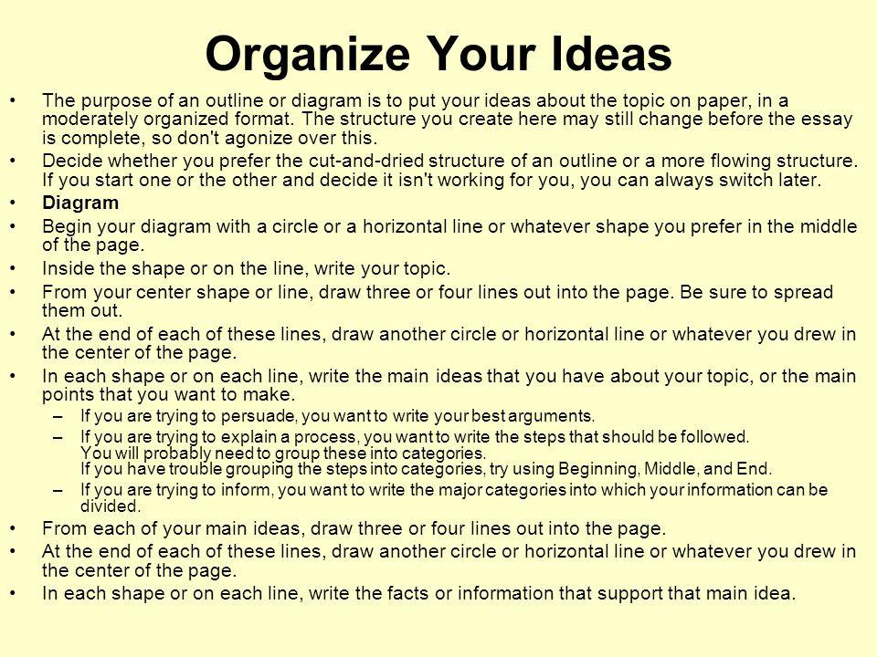 Organize Your Ideas
