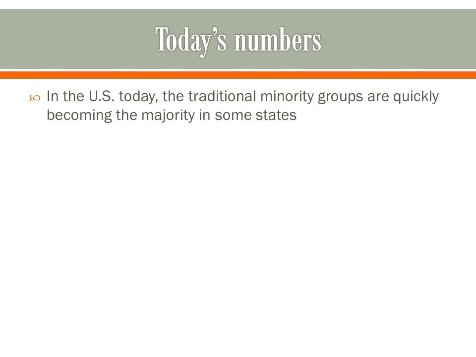 Today's numbers In the U.S.