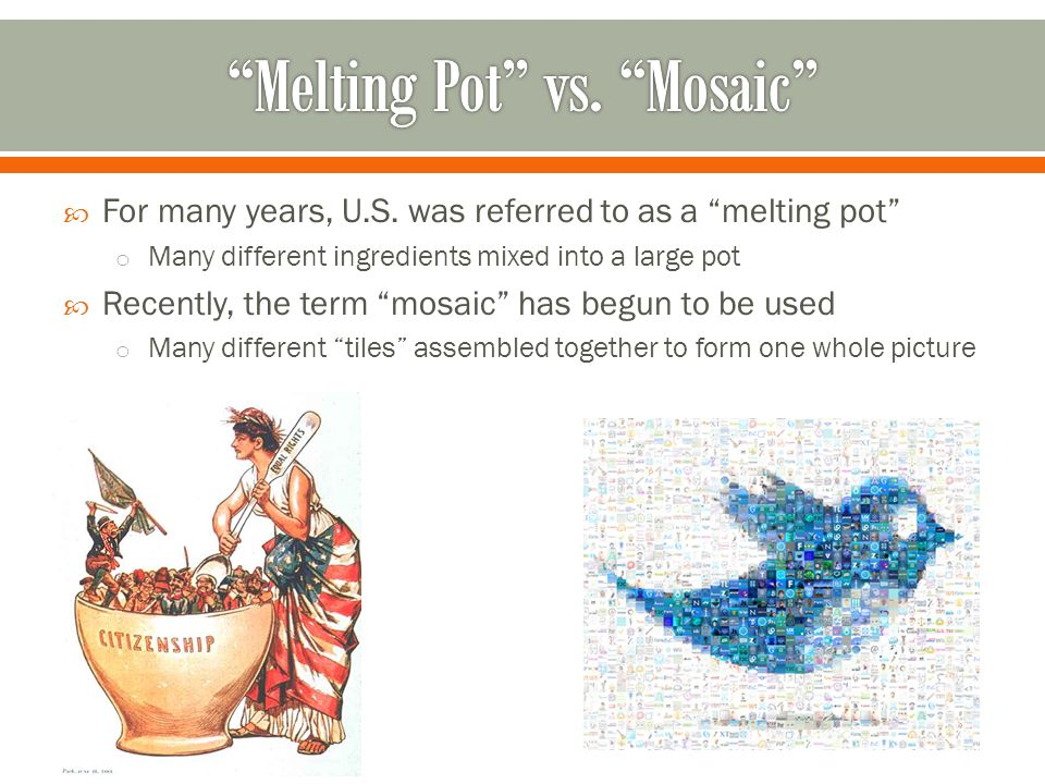 Melting Pot vs. Mosaic